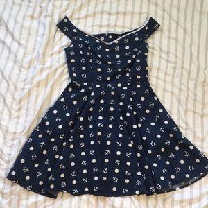 Hell Bunny Vixen sailor pin-up mini dress